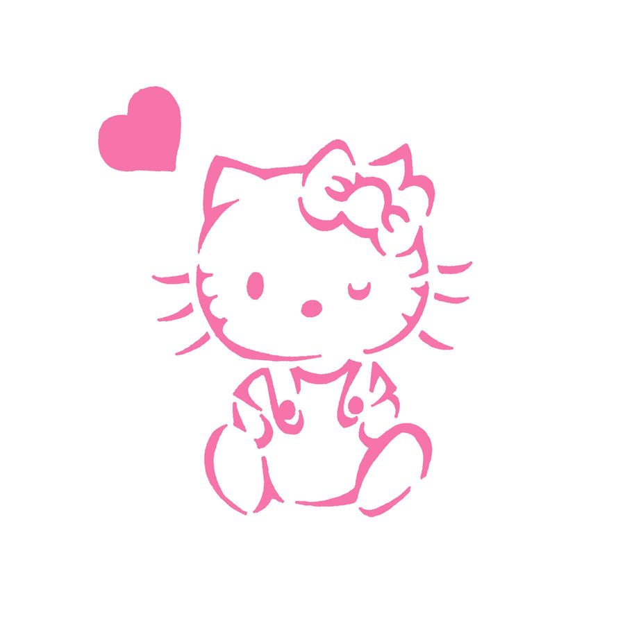 Hello kitty stencil by vorpox411 traditional art street art stencils i