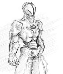 cyborg on charge by Grafyth
