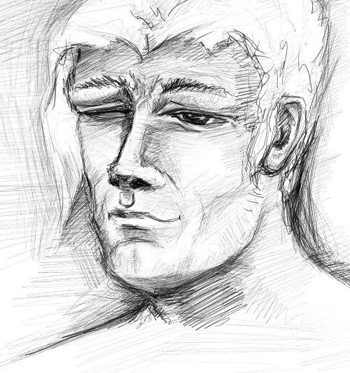 mypaint's_pencil_portrait_pre by Grafyth