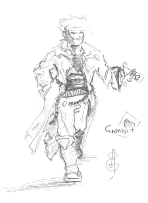 gambit_scetch by Grafyth