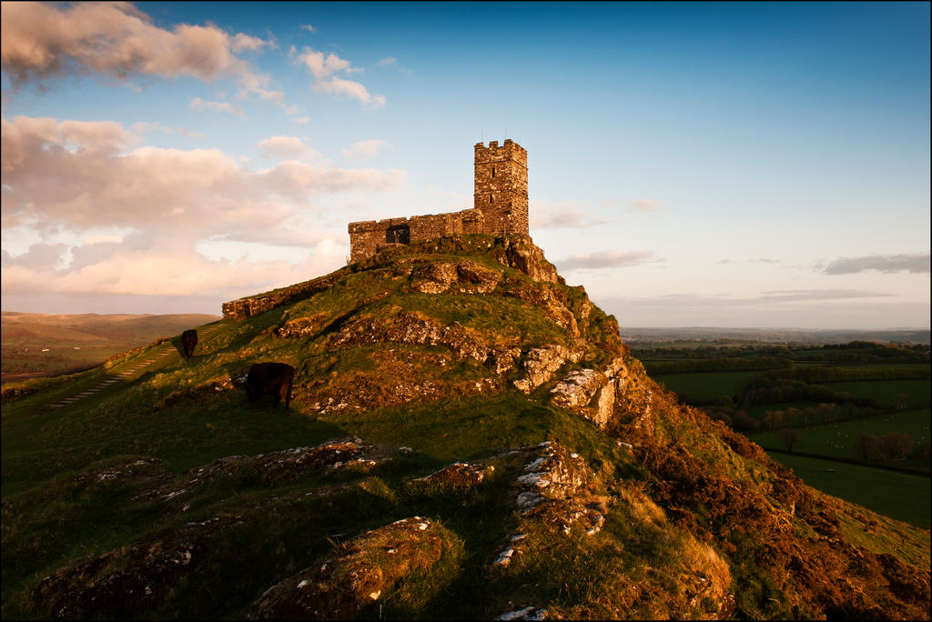 sunset at Brent Tor by LordLJCornellPhotos