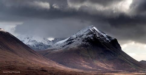 A rugged peak.