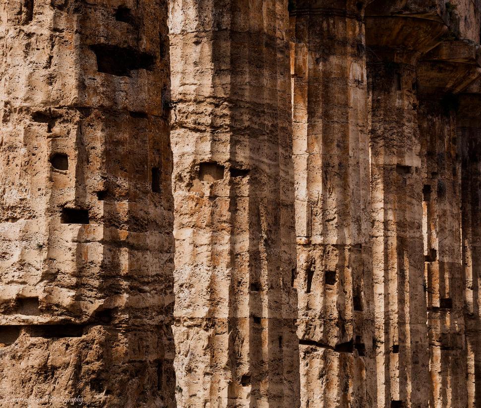 Greek columns by LordLJCornellPhotos