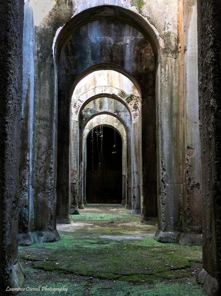 A Roman water cistern. by LordLJCornellPhotos