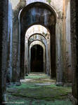 A Roman water cistern.
