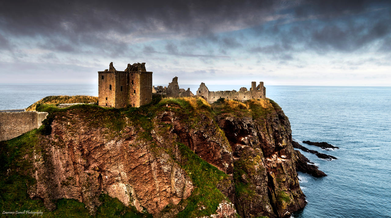 A medieval clifftop fortress by LordLJCornellPhotos