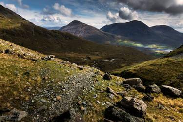 Bla Bheinn rocks. by LawrenceCornellPhoto