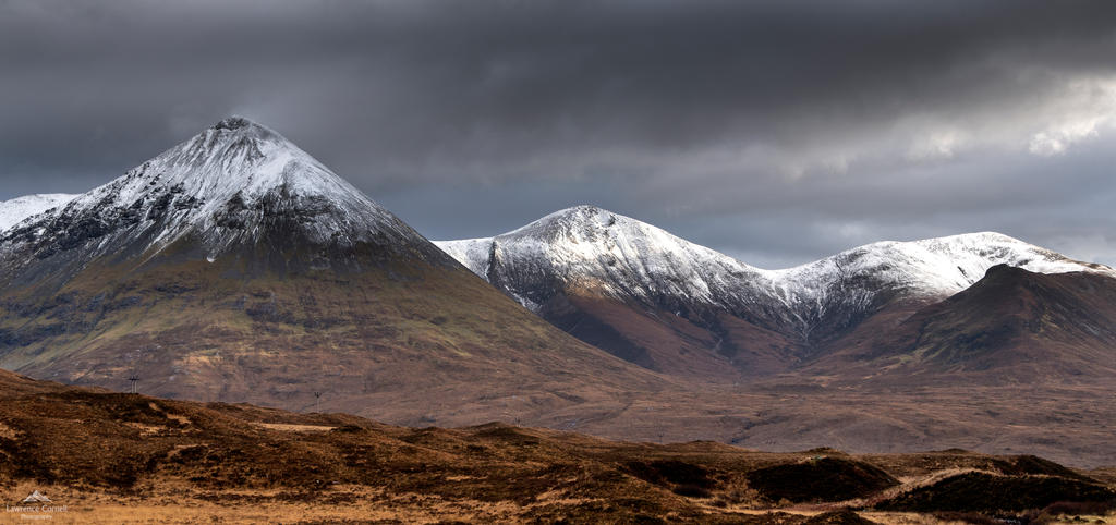 Snow dusted peaks. by LawrenceCornellPhoto