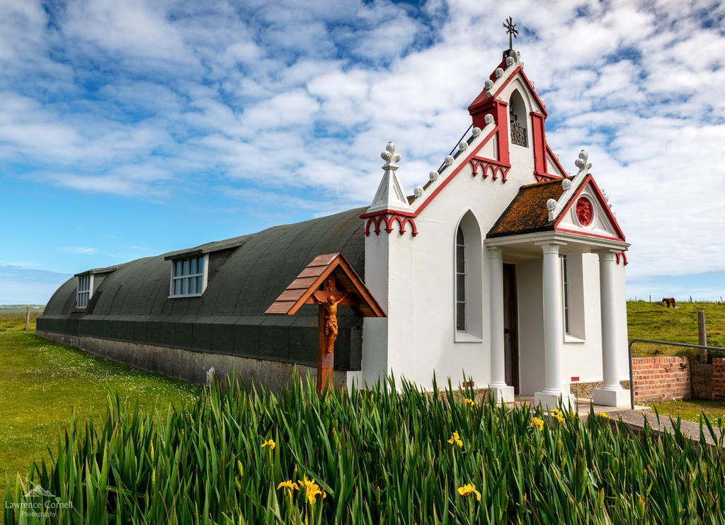 The Italian Chapel exterior. by LawrenceCornellPhoto
