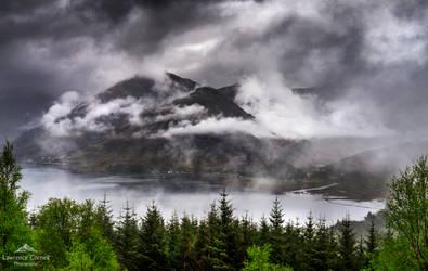 Nature's cloud shroud.