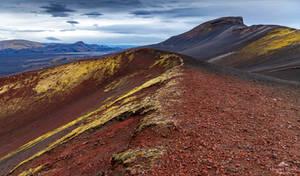 A Martian landscape.