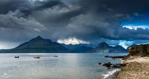 Dark skies threaten. by LawrenceCornellPhoto