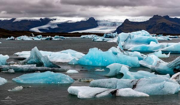 The gathering ice.