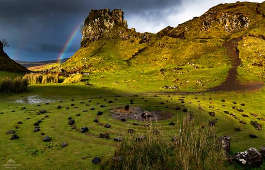 Rainbow at the Fairy Glen.