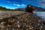 Stranded on the shore. by LawrenceCornellPhoto