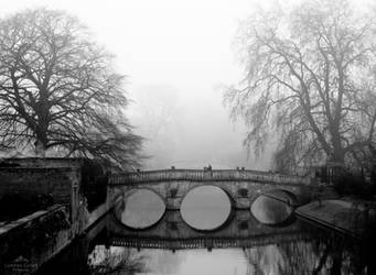 A foggy day in Cambridge.
