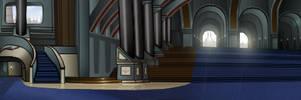 Jedi Hallway background by kaio89
