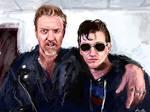 Josh Homme and Alex Turner