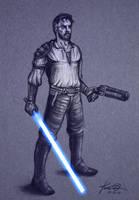 Kyle Katarn Sketch by kaio89