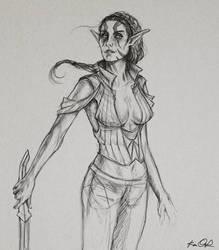 Elf girl doodle