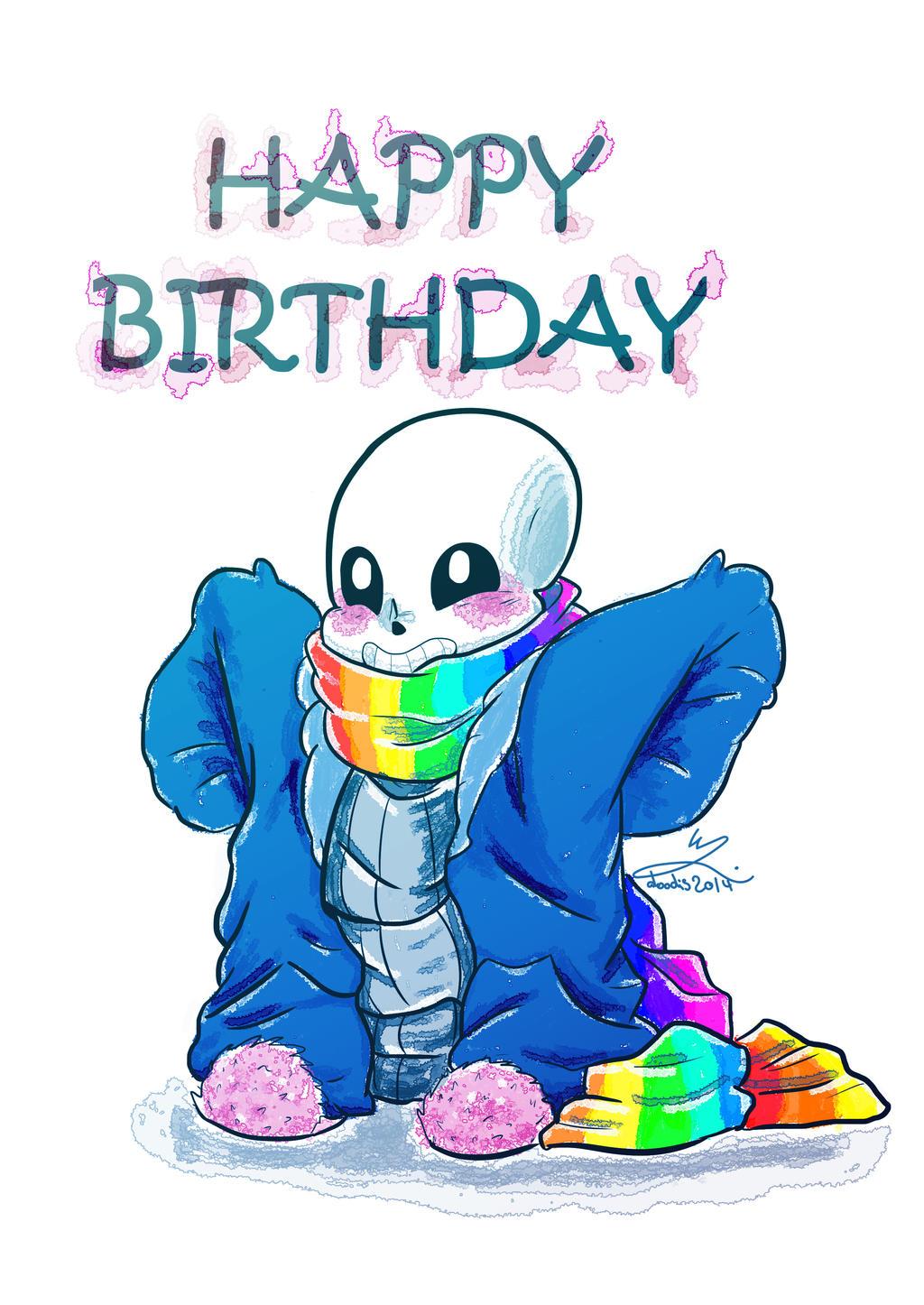 Happy Birthday R! Sans by doodis2014 on DeviantArt
