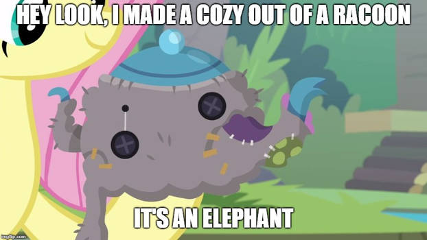 It's an elephant