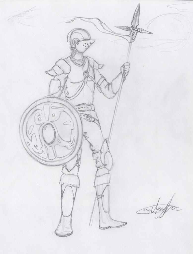 Gods and Deamons Knight Concept by MrIrish963