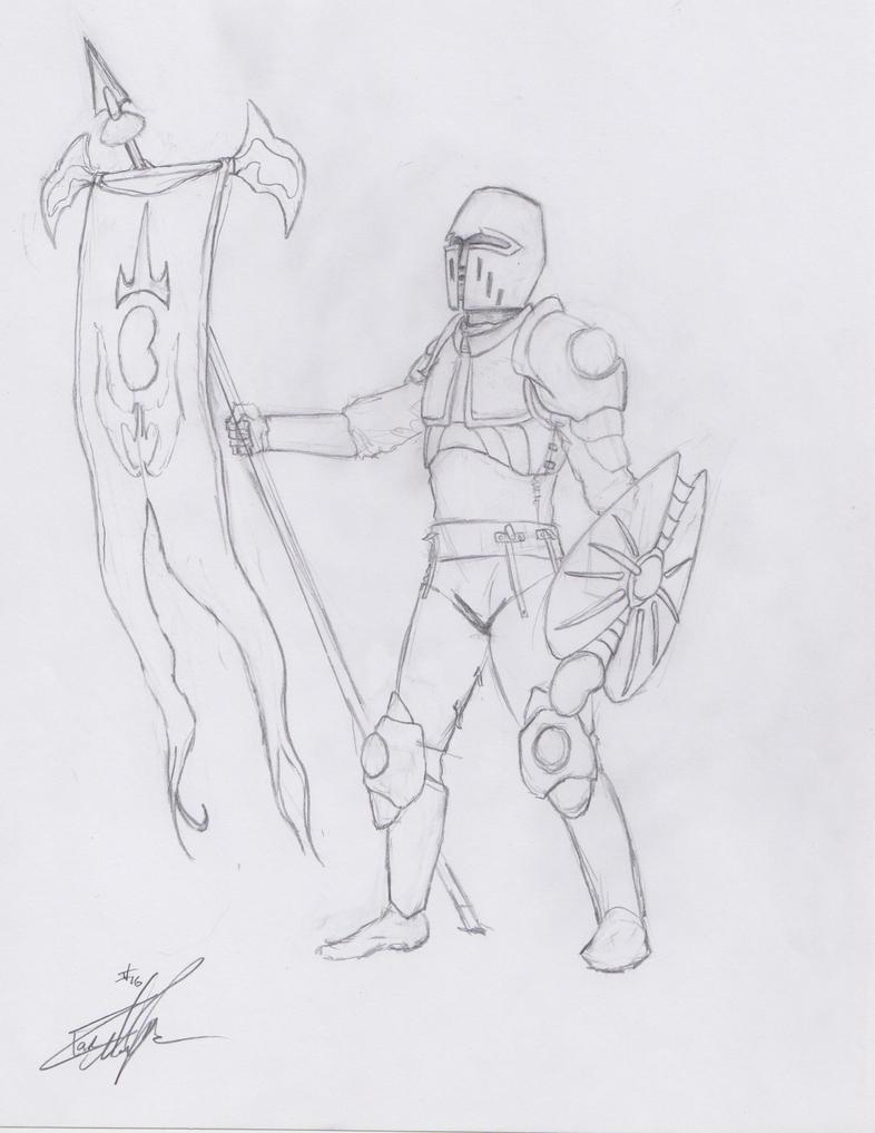 Bean Banner Knight Concept by MrIrish963