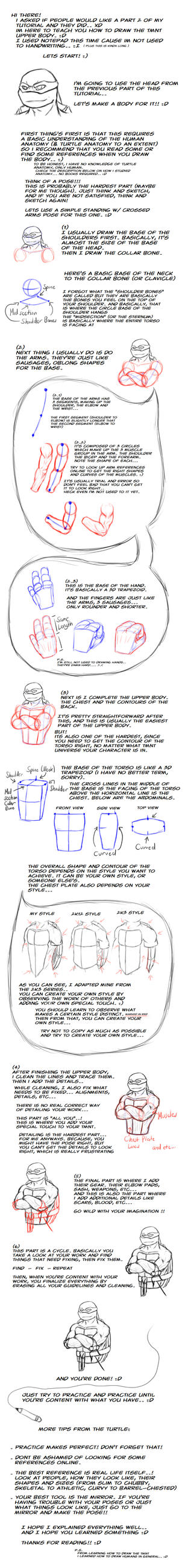 TMNT - How to Draw: Upper Body by NinjaTertel