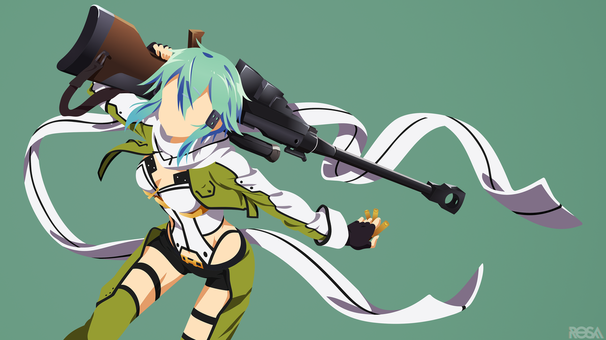 Asada Shino   Sinon   Sword Art Online by rosalyneres on ...