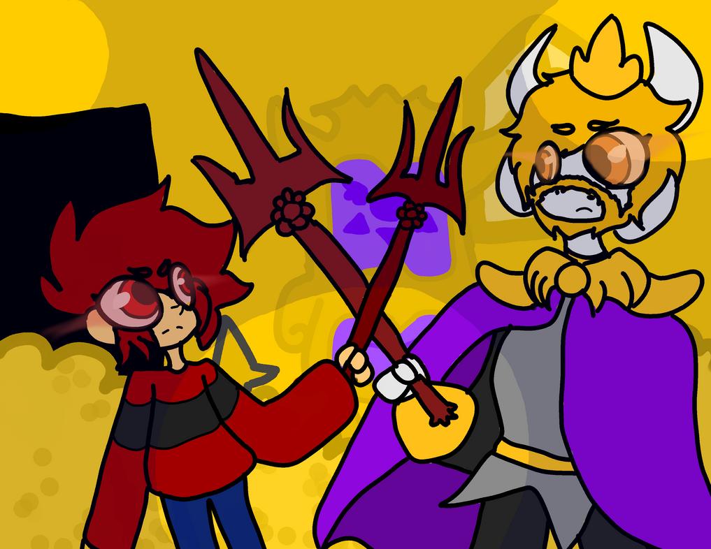 Asgore Fight by Dottiebird