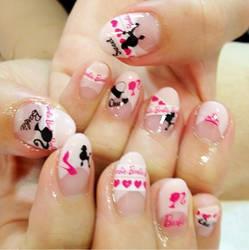 barbie nail art by Madhurupa