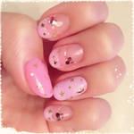 starry nail art by Madhurupa