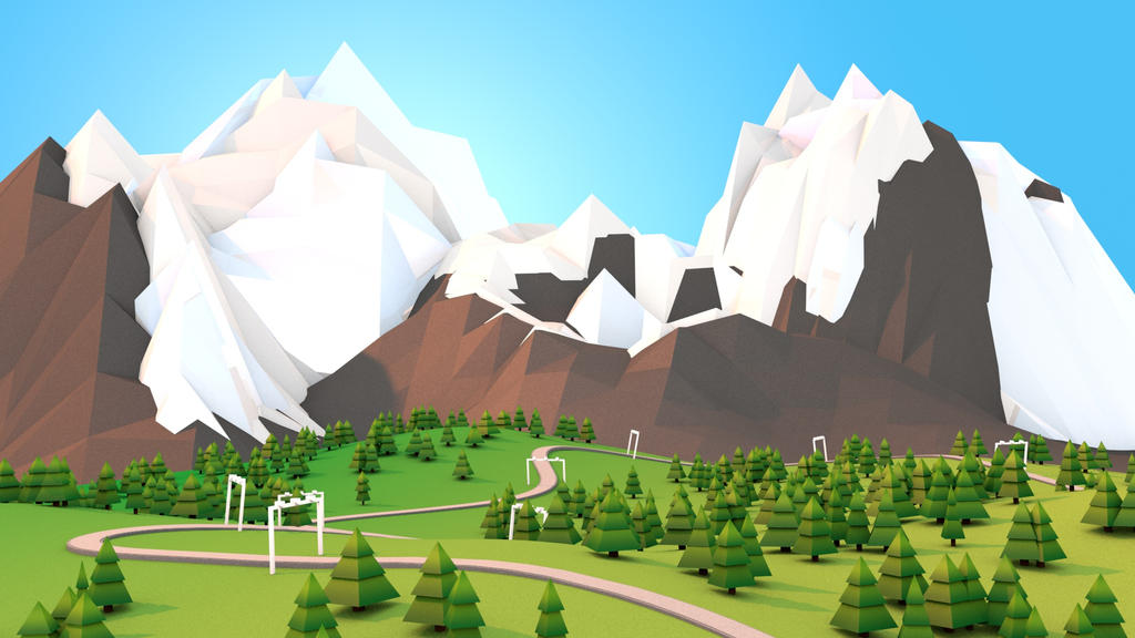 Low Poly Landscape by thomesss