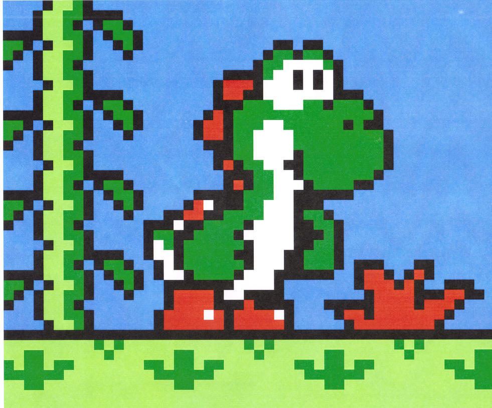 yoshi in smb2 by GyRoEsEhNi on DeviantArt