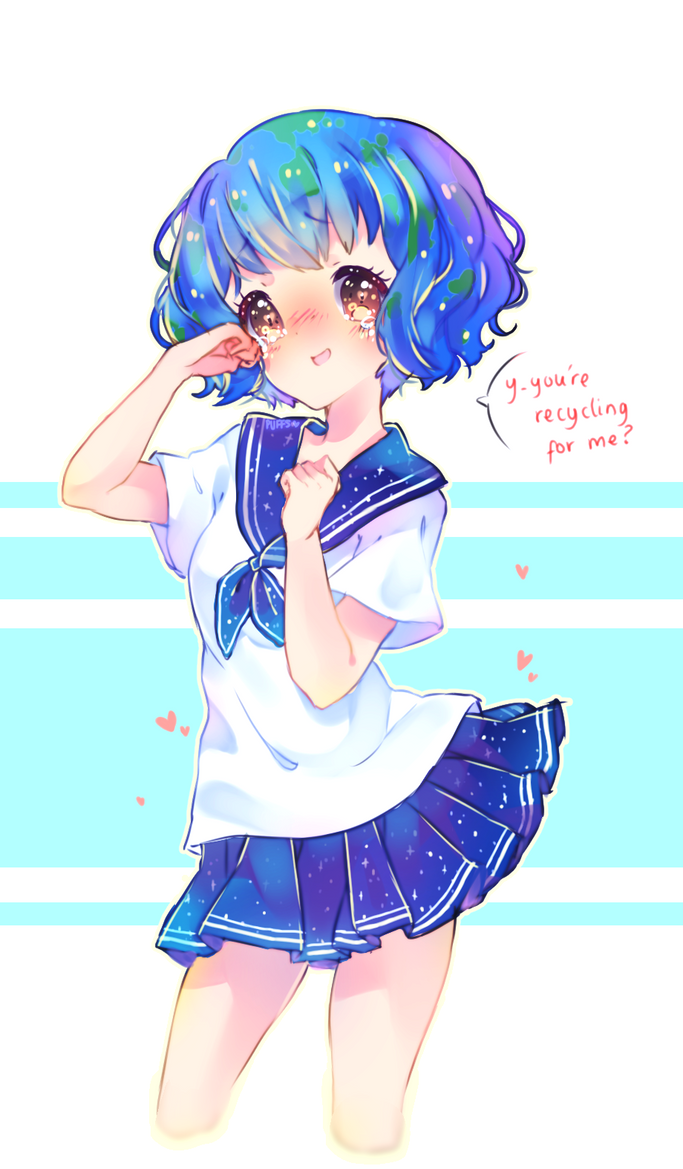 Earth Chan Doodle By Snow Puffs