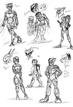 Hordika Sketchies (pre and post mutations)