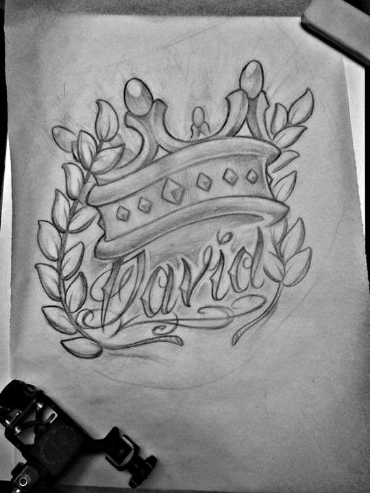 king david sketch by