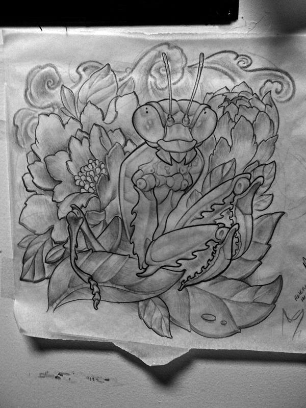 Mantis Tattoo Design By Michaelbrito On Deviantart