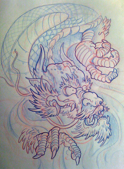 japanese dragon filler by michaelbrito