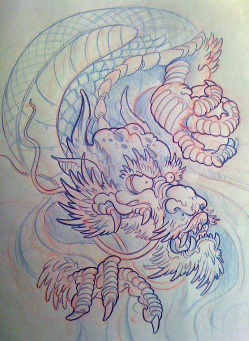 japanese dragon filler by michaelbrito