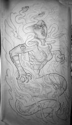 medusa drawing by michaelbrito