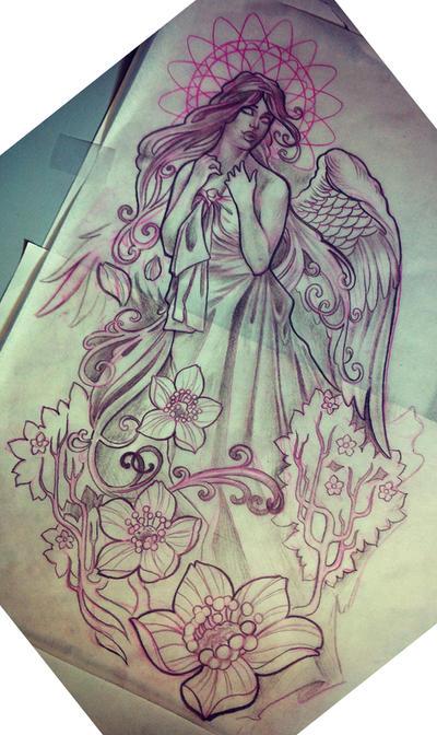 angel half-sleeve by michaelbrito on DeviantArt