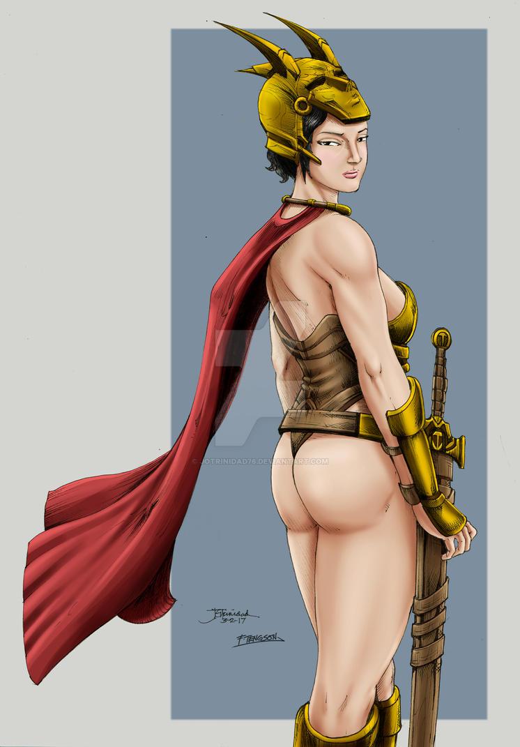 Warrior princess (colors) by jotrinidad76