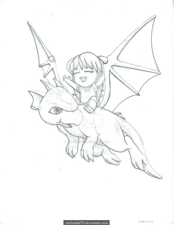 Little Dragon Rider by jotrinidad76