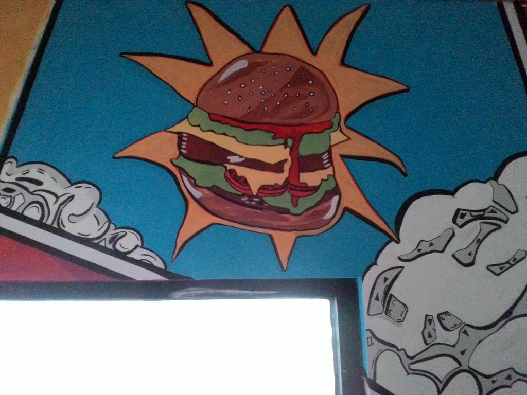 huricane burger in popart  by genodangsky