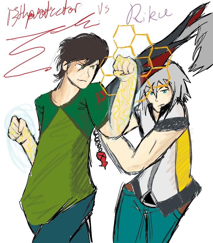 13th vs Riku by 13thprotector