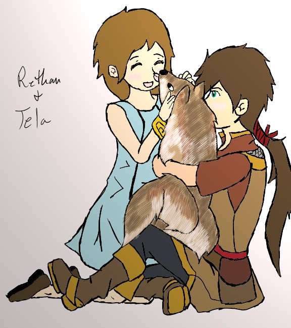 Rethan And Tela by 13thprotector