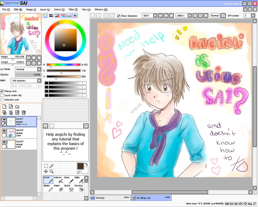 Using Sai Program By Angichi On Deviantart