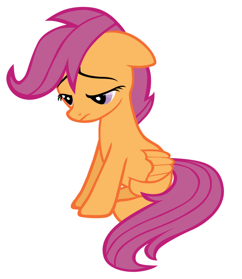 Sad Adult Scootaloo by sirhcx